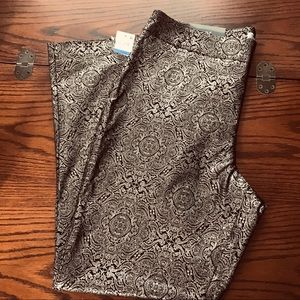 JM Collection Gilded Glamour Deep Black Pants NWT